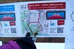 Mapka s trasou Brod - Vojna - Brod.