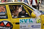 V rámci předstartovní show 39. Rally Příbram se představily některé posádky se svými vozy.
