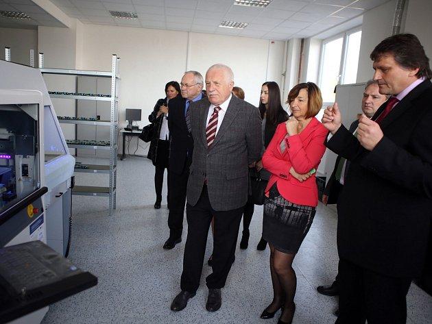 Václav Klaus v příbramské společnosti ZAT.