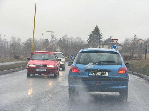 Na Příbramské silnice znovu padaly sněhové vločky