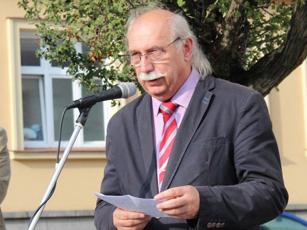 Josef Velfl, historik a ředitel Hornického muzea v Příbrami.