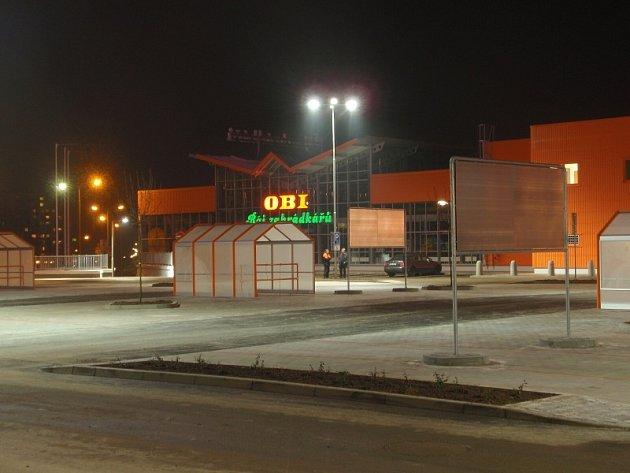Nové obchodní centrum OBI v Příbrami na Zdaboři