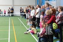 Stavba haly trvala téměř rok a sloužit bude především tenistům.