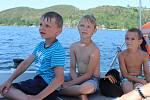 V pátek 28.června si děti díky spolku užily vyjížďku a koupání na Orlíku.