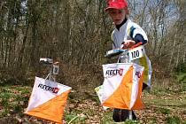 Ze závodů v orientačním běhu, který se konal u Mníšku pod Brdy.