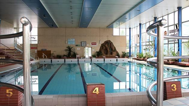 Vnitřní bazén v Příbrami.