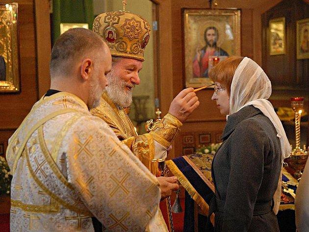 Arcibiskup pražský a metropolita pravoslavné církve v Českých zemích a na Slovensku Otec Kryštof v neděli sloužil sv. archijerejskou liturgii v chrámu svatého Prokopa v Příbrami.