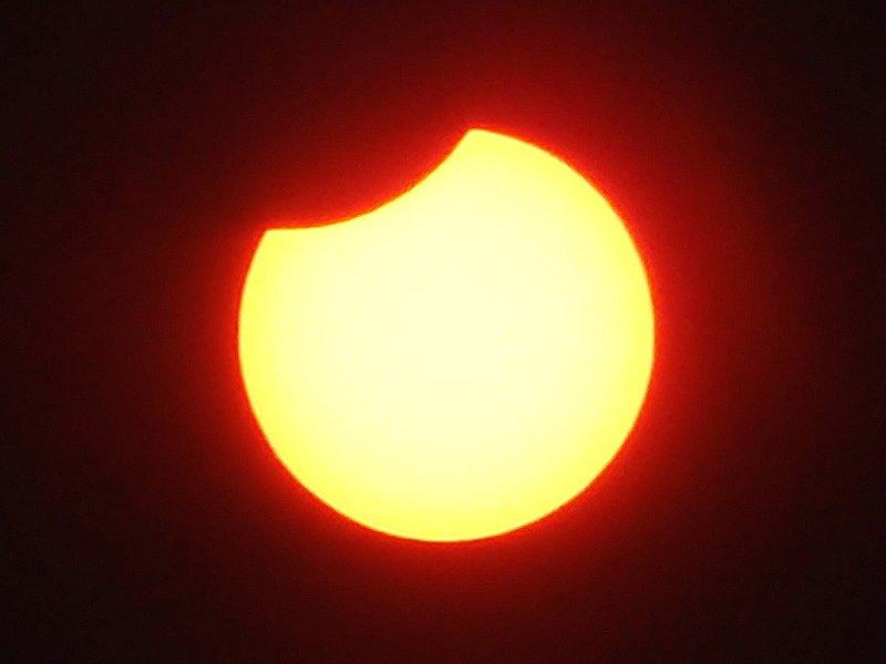 Zatmění slunce v 11.15 hodin