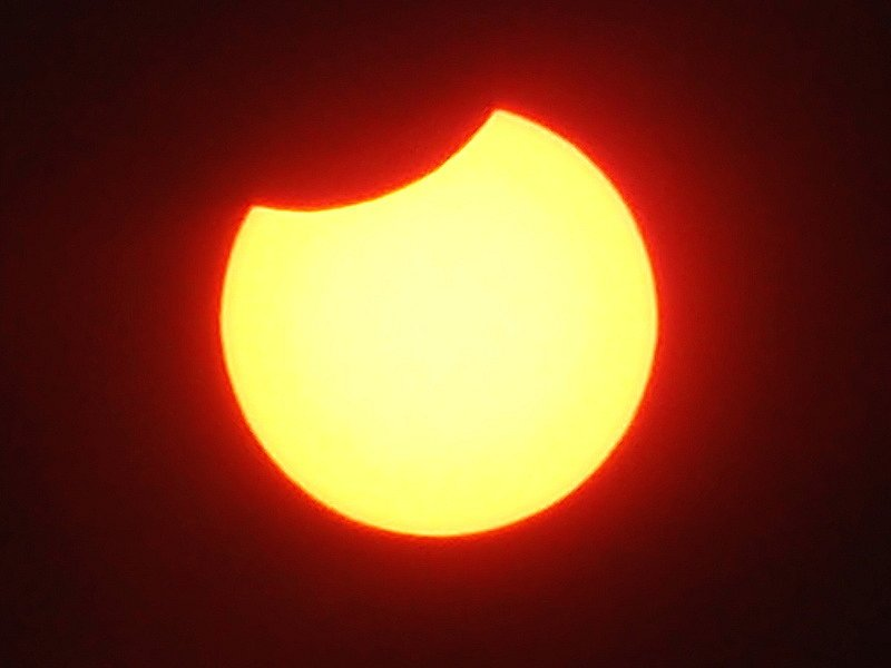 Zatmění slunce v 11.25 hodin