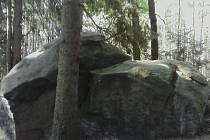 Soudný kámen v Kolihovém lese.
