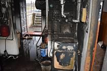 Hořet začalo v kotelně rodinného domu.
