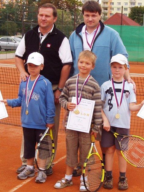 Malí bohutínští tenisté se stali přeborníky středočeského kraje.
