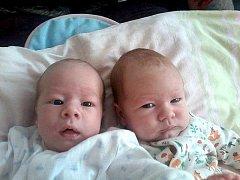 Milánek a Petruška Mandíkovi poprvé spatřili svět v sobotu 26. prosince. Milánek  měřil 49 cm a vážil 2,570 kg  a Petruška má u jména zapsánu míru 47 cm a váhu  2,750 kg.  Dvojnásobnou radost mají maminka Petra a tatínek Milan z Příbrami.