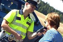 Dopravně bezpečnostní akce v Bohutíně.