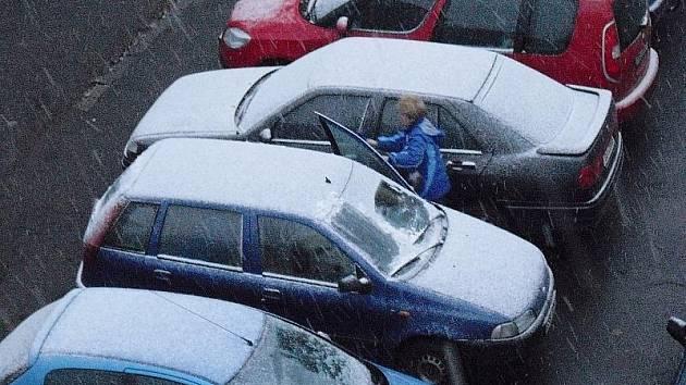 Déšť se na Příbramsku proměnil ve sníh