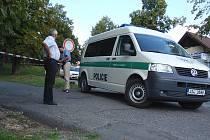 Místo incidentu v Mníšku pod Brdy, kde útočník pobodal dva lidi