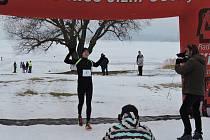 Vítěz Lipno Ice Marathonu 2017 - Jan Vitásek z Malé Hraštice.