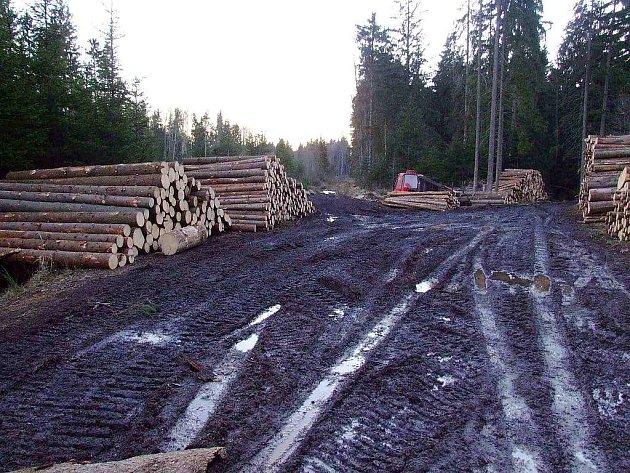 Těžba v Brdech - ilustrační snímky v průběhu posledních roků.