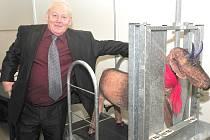 Na výstavišti v Lysé nad Labem ve středu začal 42. ročník tradiční jarní výstavy Zemědělec 2015. Mezi vystavovateli je i Eduard Škvára z Obecnice. Ten vystavuje klecové dojírny pro ovce, kozy či krávy a veškerou techniku spojenou s dojením a mlékem.