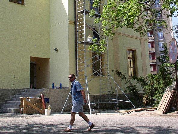 Areál příbramské nemocnice, kde se rekonstruuje ORL.