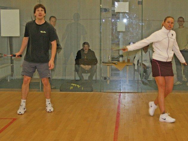 Vyhlášení příbramské squashové ligy byla přítomna i nejlepší česká hráčka Jana Šmeralová.
