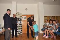 Slavnostní vyhlášení výsledků výtvarné soutěže, kterou organizoval příbramský územní odbor HZS Středočeského kraje.