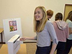 Studentské volby na Gymnáziu pod Svatou Horou v Příbrami.