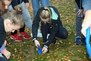 Studenti a učitelé z Gymnázia pod Svatou Horou v Příbrami zasadili cibulky žlutých krokusů na památku jednoho a půl milionu židovských dětí, které zahynuly v koncentračních táborech.