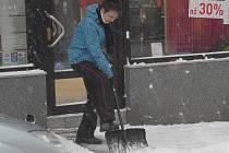 Příbram pod sněhem.