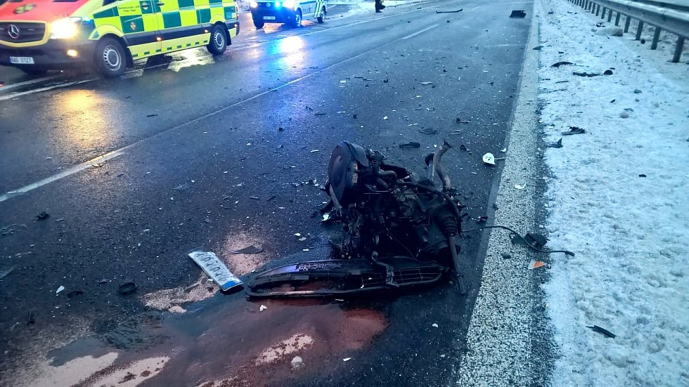 Vážná nehoda zablokovala provoz na strakonické dálnici D4 u Kytína