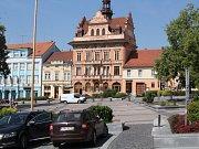 Sedlčany - radnice a náměstí TGM.