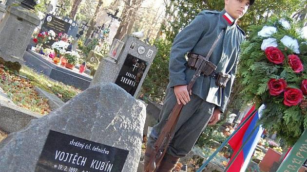 Odhalení pomníku četníka Vojtěcha Kubína