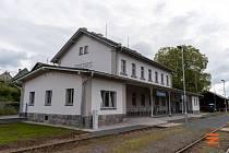 Výpravní budova v Sedlčanech.