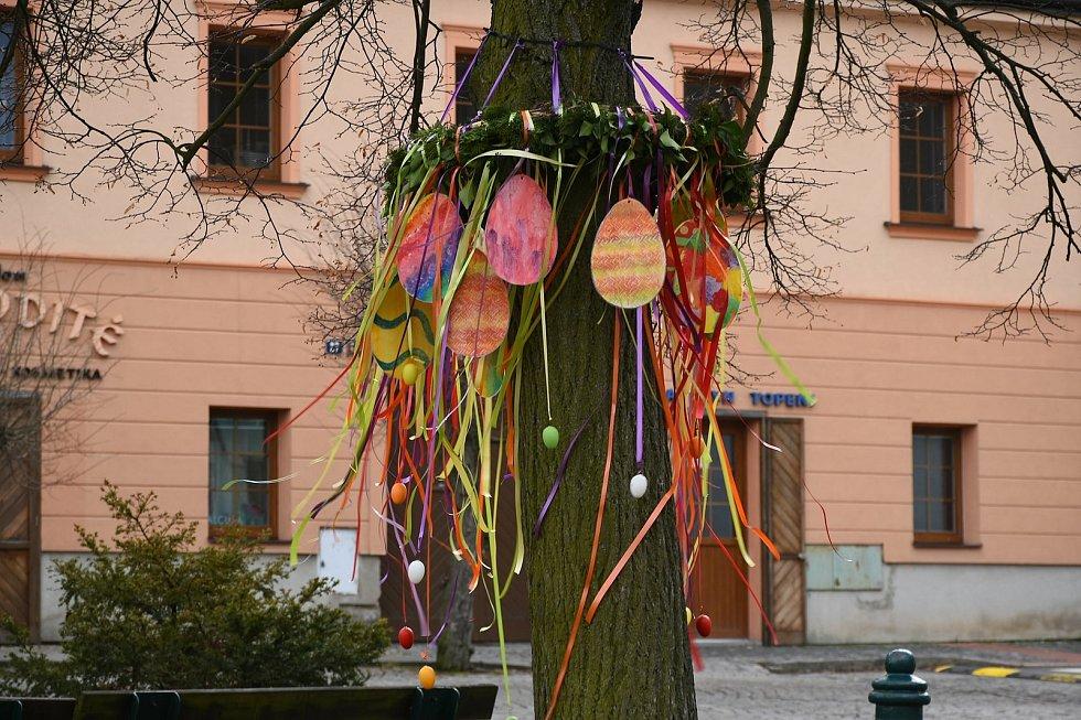 Velikonoční výzdoba v Příbrami.