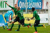 Ze zápasu nadstavbové části FORTUNA:LIGY 2019/2020 Příbram - Olomouc.