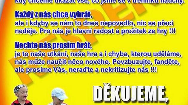 Žlutá karta Respekt pro rodiče (výřez).