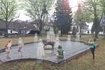 Vítězný návrh nové podoby kašny v Petrovicích.
