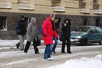 Sněhová situace na silnicích v Příbrami