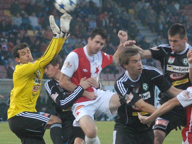 Gambrinus liga: Příbram - Slavia (1:1).