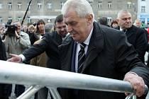 Prezident ČR Miloš Zeman na návštěvě v Příbrami.