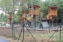 Stavba klidové zóny na Rynečku v Příbrami.