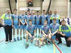 Volejbaloví starší žáci Příbrami dokráčeli na mistrovství republiky ke stříbru.