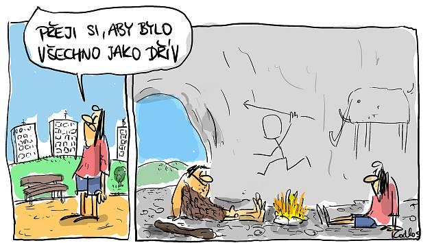 Kreslené vtipy Karla Hohla.