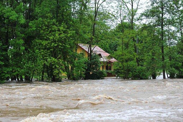 Povodeň na Brzině.
