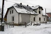Požár rodinného domu v Klučenicích