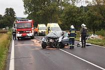 Pondělní nehoda na strakonické silnici.