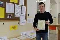 Student Střední průmyslové školy v Příbrami Filip Rajman se umístil na první místě v celorepublikové soutěži v projektování.