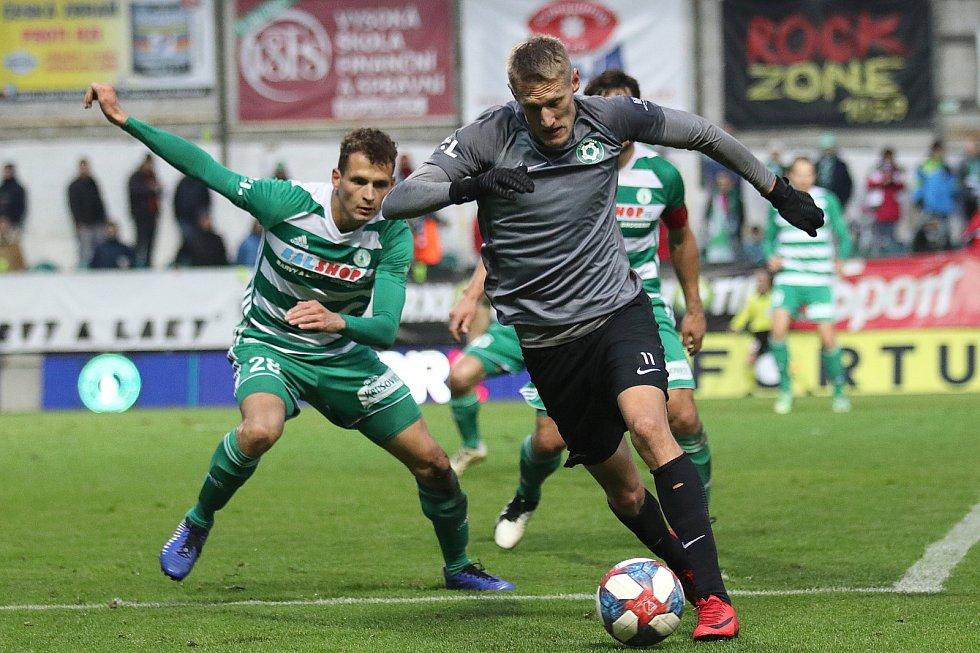 Ze zápasu 17. kola FORTUNA:LIGY Bohemians Praha 1905 - 1. FK Příbram 1:0 (0:0).