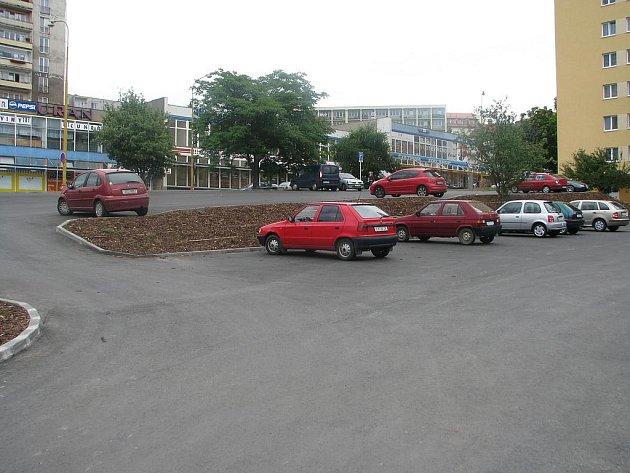 Parkoviště v Plzeňské ulici v Příbrami