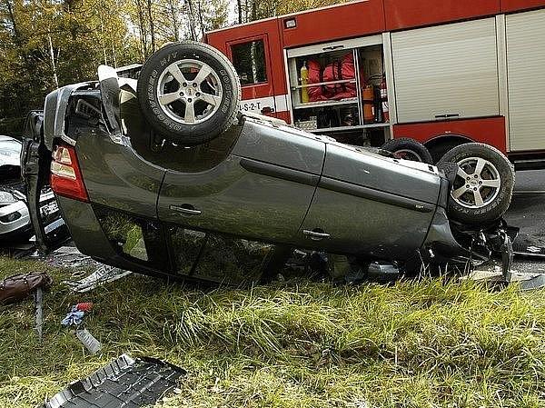 Nehoda na silnici I/4 nedaleko obce Háje